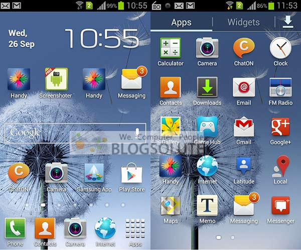Galaxy S Duos Interface