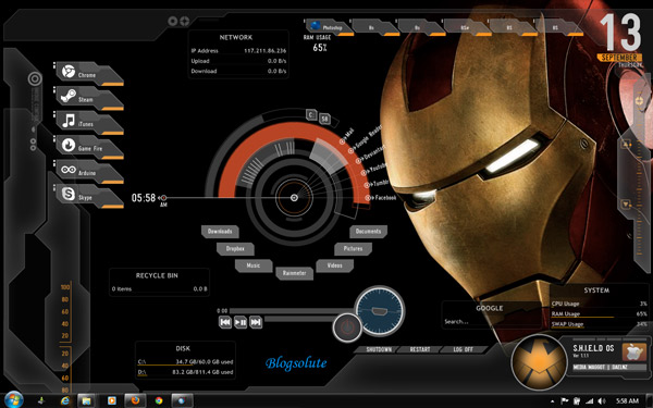 rainmeter superhero themes