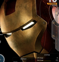 Iron Man Rainmeter Theme For Windows 7, 8 and XP
