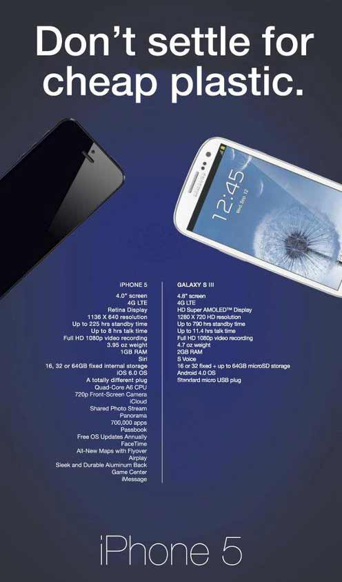 apple reply samsung galaxy s3 funny ad
