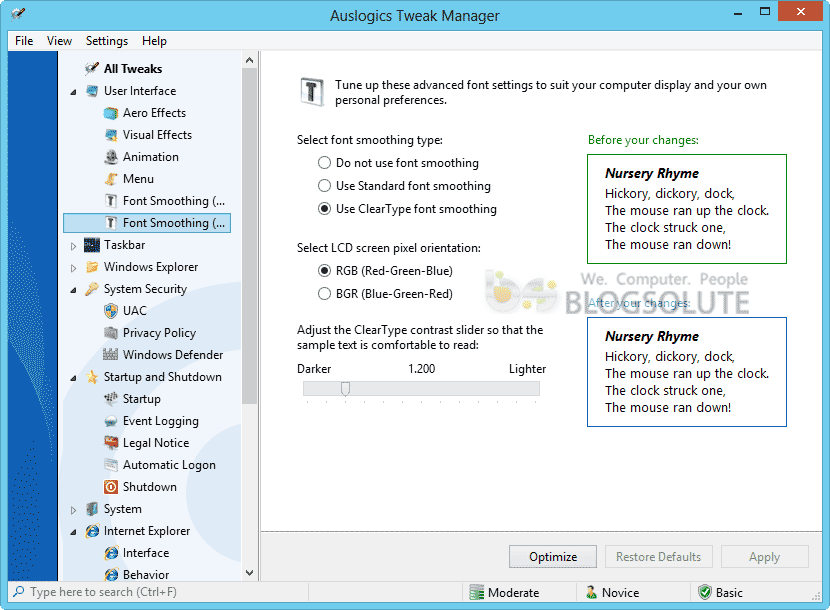boostspeed tweak manager