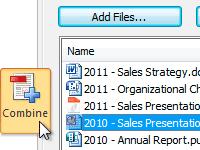 create combine PDF