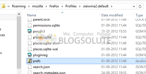 Backup Firefox Configuration