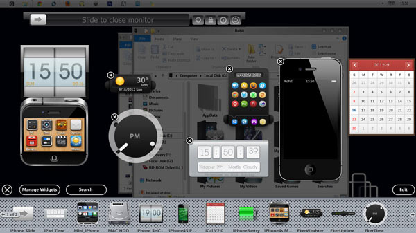 iphone 5 gadgets on windows 8