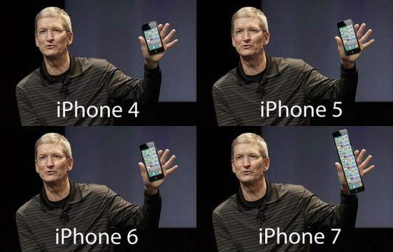 iPhone 5 Length Evolution Funny Tim Cook
