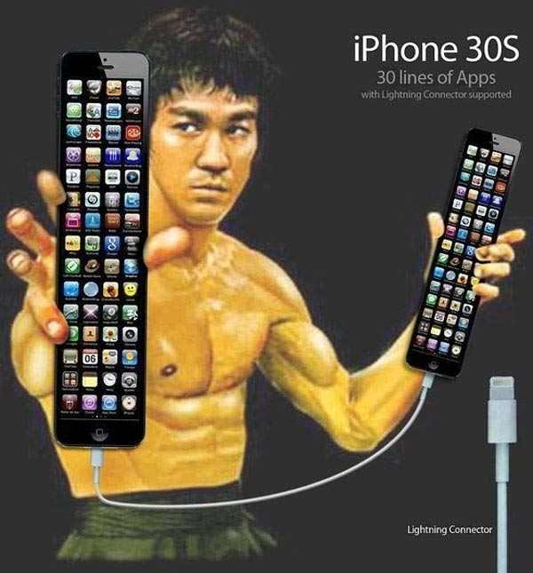 iPhone 30S with tall screen endored by Jackie Chan