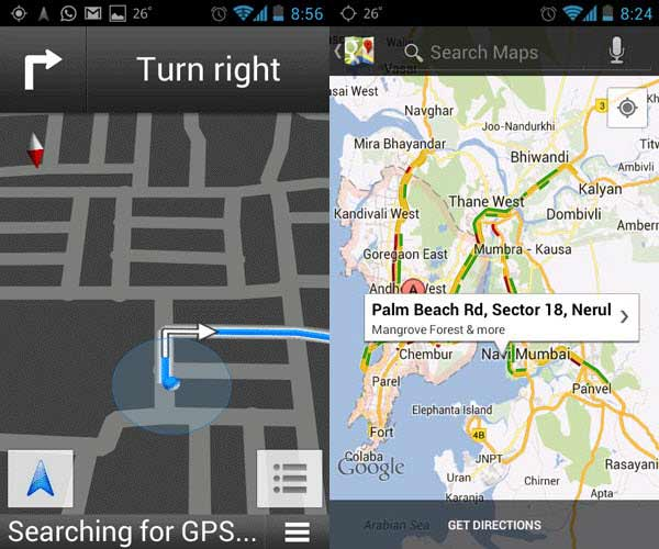 Live Traffic in Google Maps India Navigation