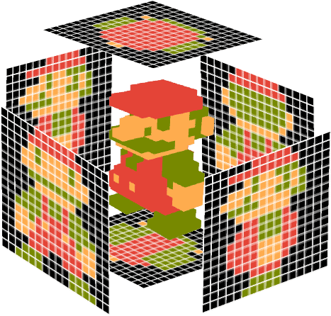 orthographic view of 3D object