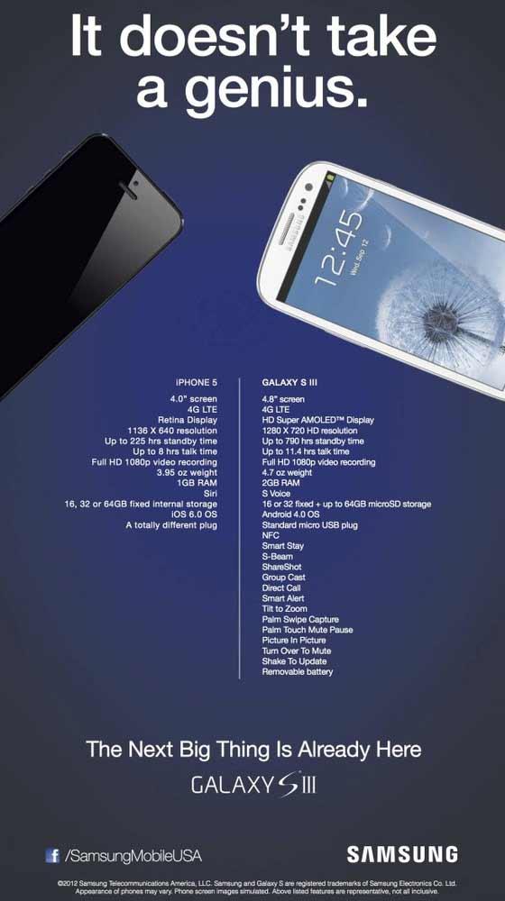 samsung makes fun iPhone 5