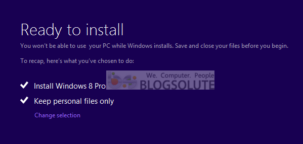 windows 8 downgrade process