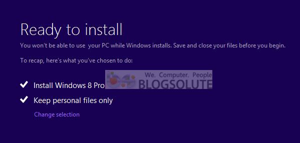 windows 8 downgrade process