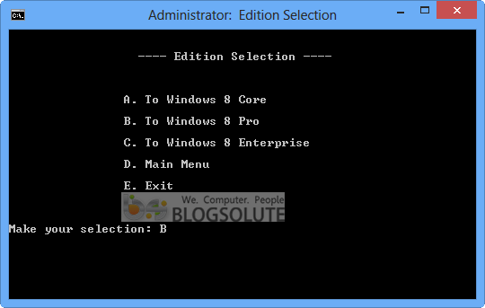 windows 8 edition chooser