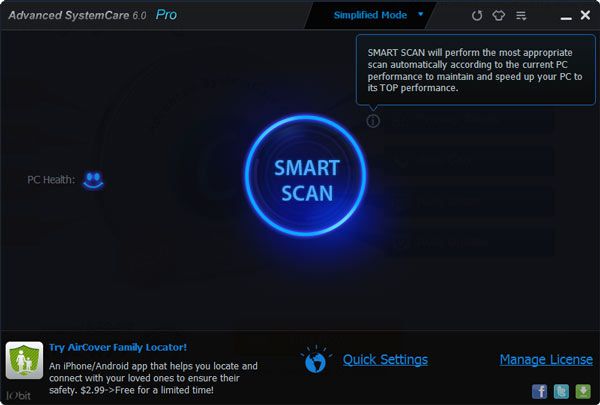 advanced system care v6 interface review
