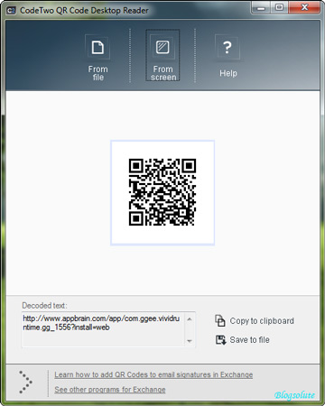 Decode QR code in windows