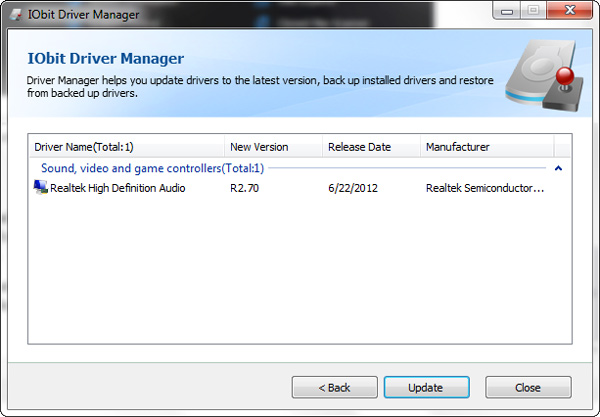 Advanced system Care Driver Update