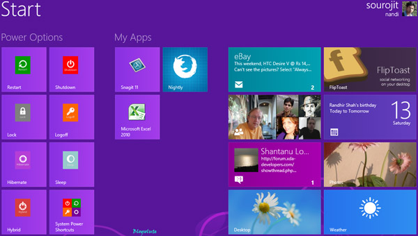 Organize windows 8 start Screen
