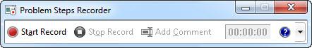 purpose of problem step recorder in windows 7