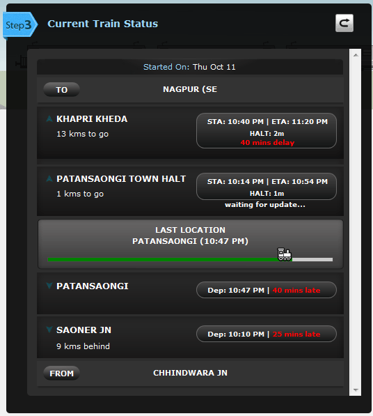 indian train running status
