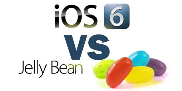 ios 6 vs Android jellybean