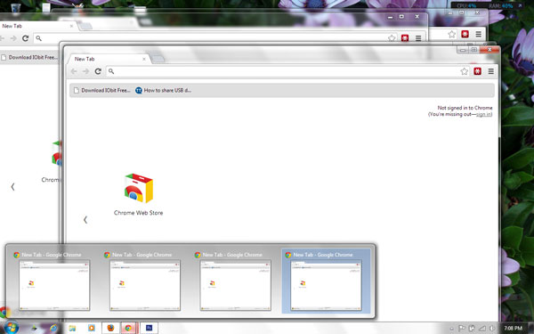 how to open pinned browser new window from taskbar