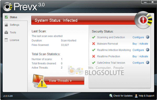 prevx threat detection