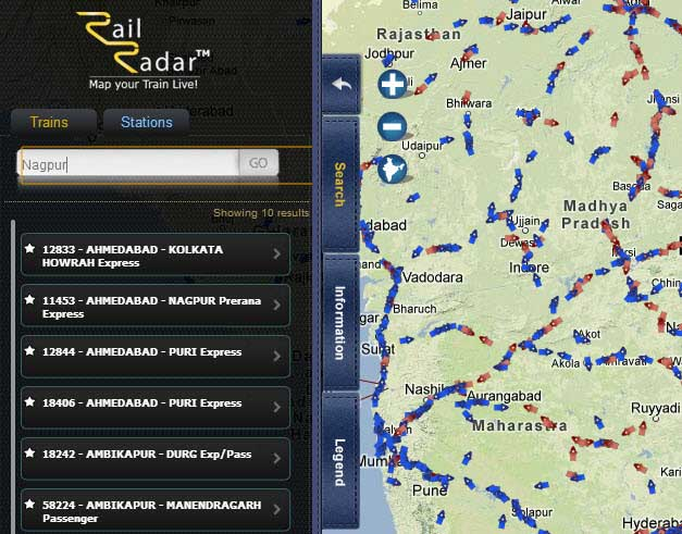 railradar track live trains india