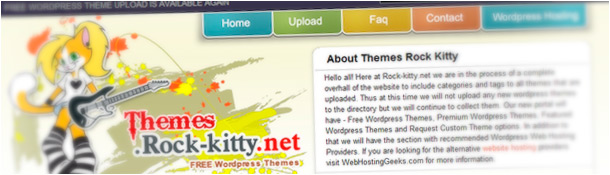 Rock Kitty Free WordPress Themes