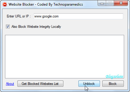 block/ unblock parental control windows