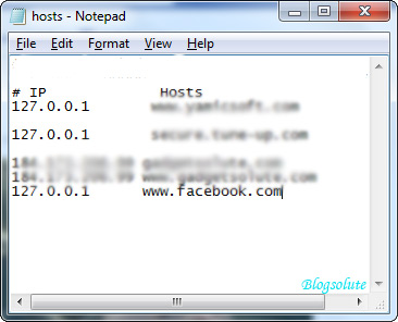 how to block a website in windows 7 host file