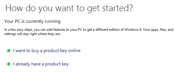 already windows 8 product key