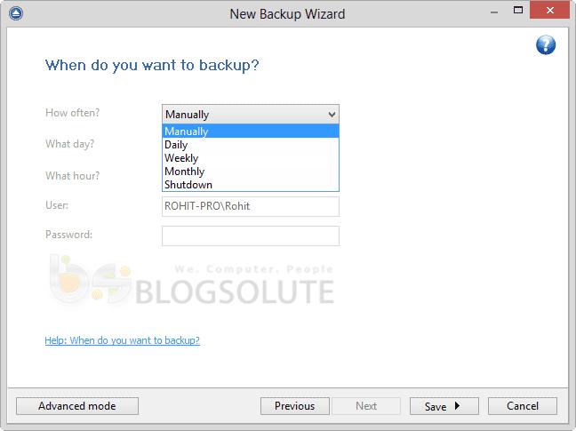 backup4all pro scheduler