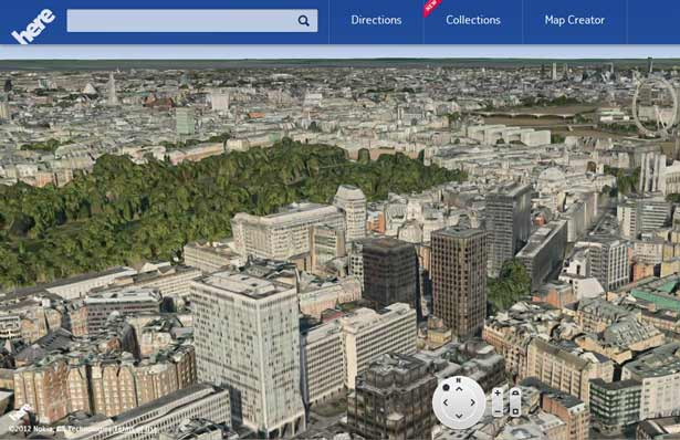 here maps 3d-view