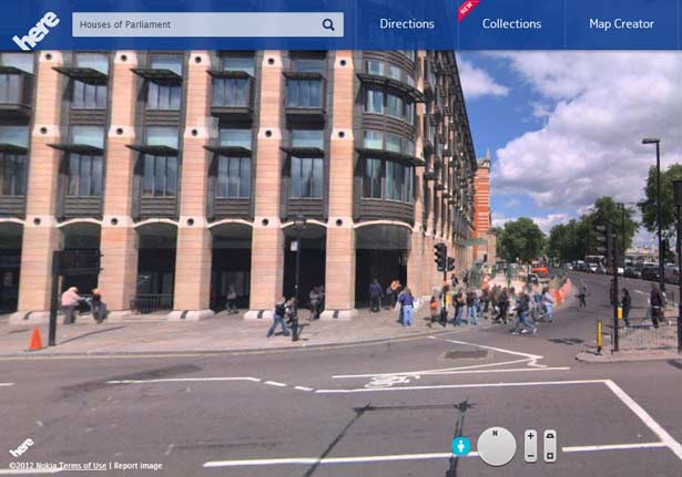 Nokia Here maps Street View
