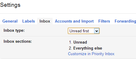 unread first gmail