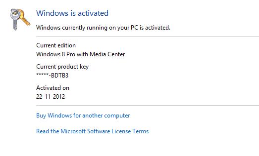 windows 8 pro permanent activation