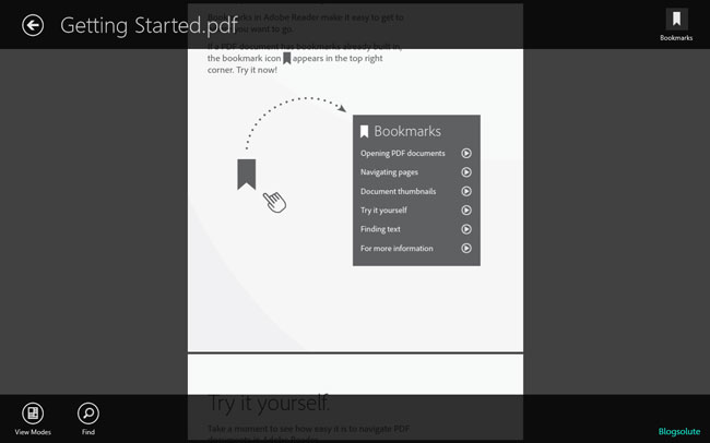 windows 8 adobe pdf reader metro app