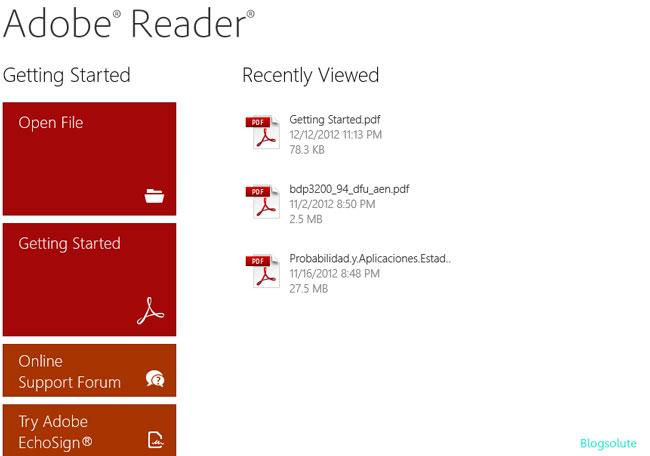 Adobe pdf metro app
