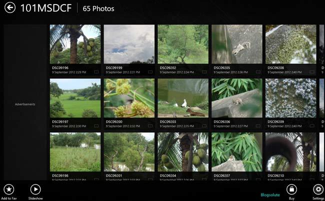 Windows 8 HD Photo Viewer