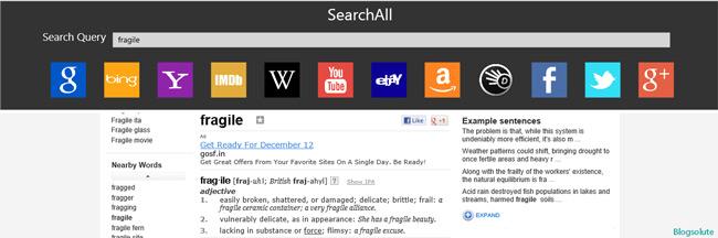 Online dictionary windows 8
