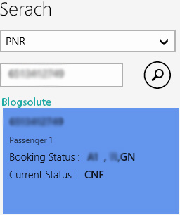 Free windows 8 app to know pnr status