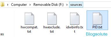 windows 8 installer product key