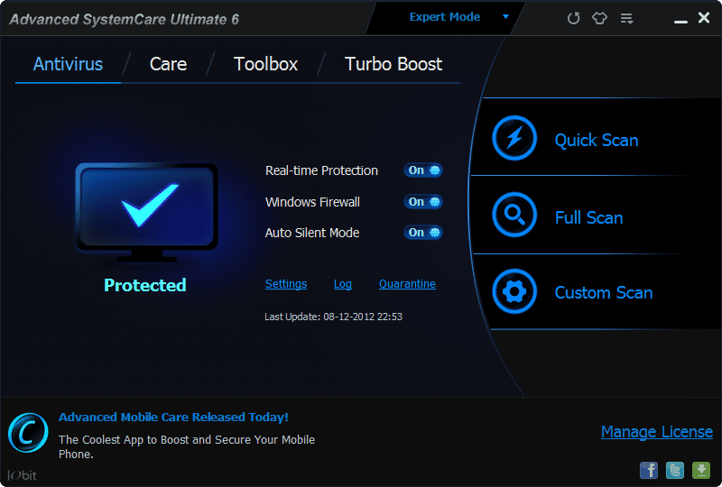 advanced systemcare ultimate antivirus