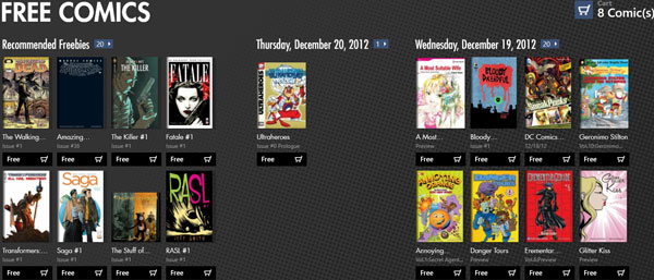free comics windows 8 app
