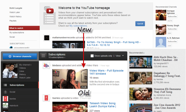 get old youtube interface back 2012 2013