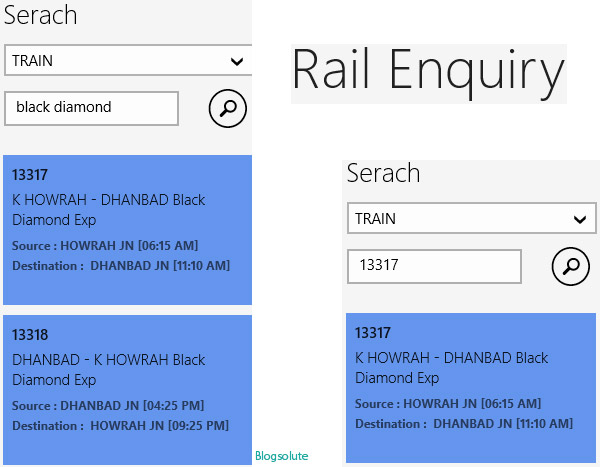 Indian railways Windows 8 free app