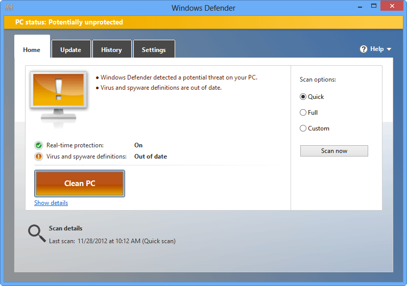 windows defender 8