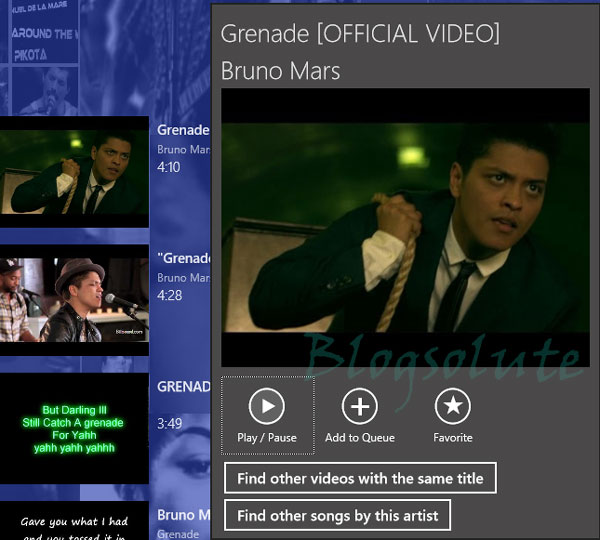 youtube metro app windows 8