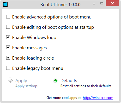 Enable Windows 8 Advance boot menu