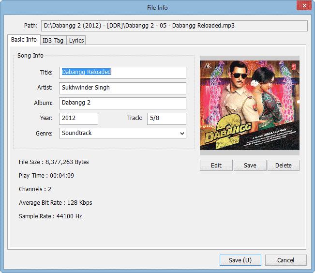 GOM Audio ID3 Tag Editor