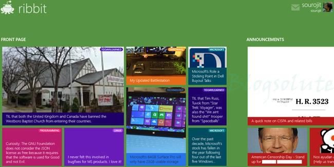 reddit modern/metro app windows 8